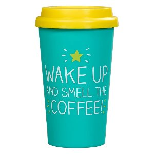 WAKE UP AND SMELL THE COFFEE - Šolja za Poneti