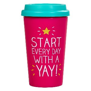 START EVERYDAY WITH A YAY - Šolja za Poneti
