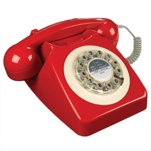 Retro Telefon - Box Red